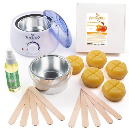 Kit Epilare Ceara Traditionala Refolosibila SensoPRO Milano Honey