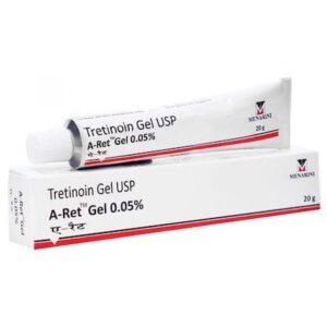 Gel, A-Ret, Menarini, Anti-Rid, Anti-Acnee, Anti-Pete, Tretinoin 0.05%, Tub 20gr